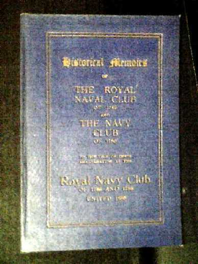 Image for Historical Memoirs of the Royal Naval Club of 1765
