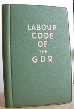 Image for The Labour Code of the German Democratic Republic