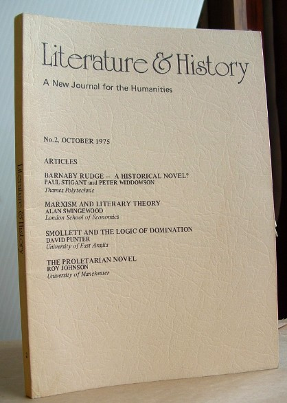 Image for Literature and History a New Journal for the Humanities