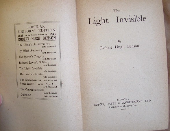 Image for The Light Invisible