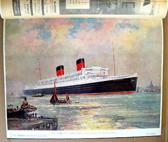 Image for The Cunard White Star Liner Mauretania Souvenir Number of the Shipbuilder