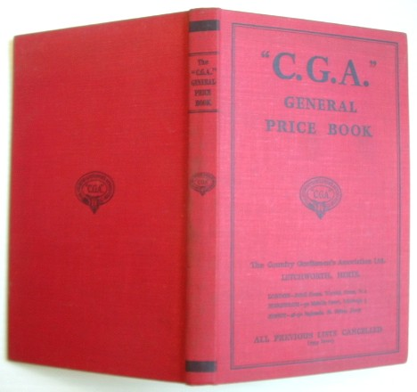 Image for C G A  Country Gentlemen's Association General Price Book