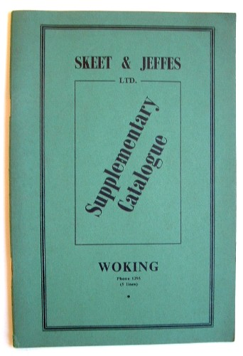 Image for Skeet and Jeffes Trade Catalogue 1955