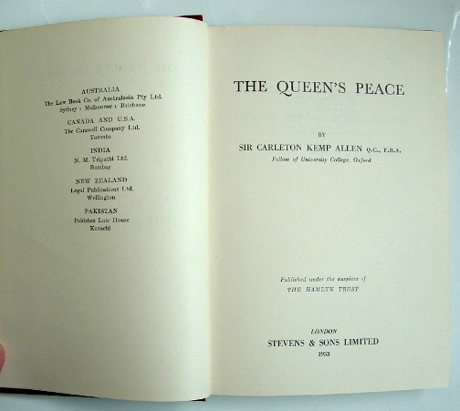 Image for The Queen's Peace