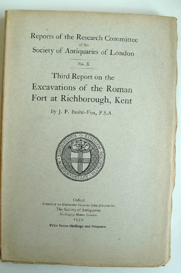 Image for Third Report on the Excavations of the Roman Fort at Richborough Kent