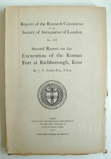 Image for Second Report on the Excavations of the Roman Fort at Richborough Kent