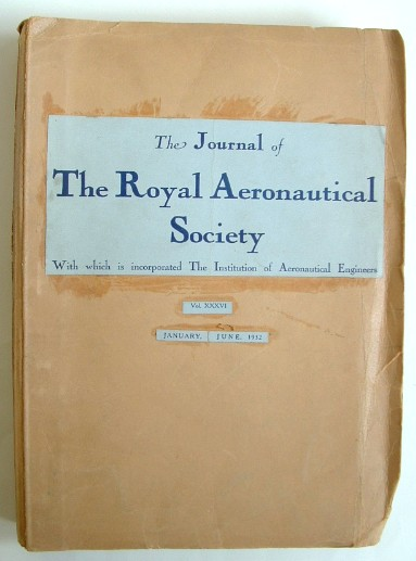 Image for The Journal of the Royal Aeronautical Society January - June 1932