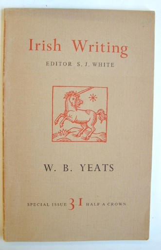 Image for Irish Writing  W B Yeats Special Issue 31