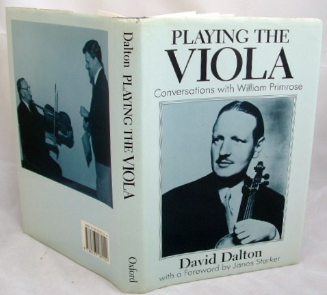 Image for Playing the Viola : Conversations with William Primrose