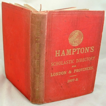Image for Hampton's Scholastic Directory for London and Provinces 1897-98