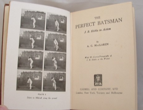 Image for The Perfect Batsman J B Hobbs in Action