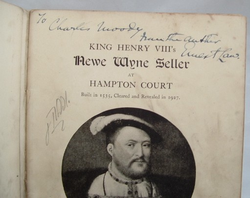 Image for King Henry VIII's Newe Wyne Seller at Hampton Court