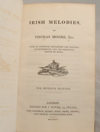 Image for Irish Melodies with an Appendix Containing the Original Advertisements and the Prefatory Letter on Music