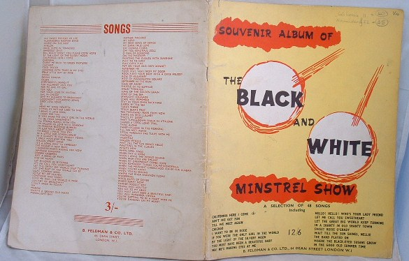 Image for Souvenir Album of the Black and White Minstrel Show
