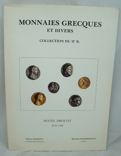 Image for Monnaies Grecques et Divers Collection Du Dr B Hotel Drouot Juin 1980