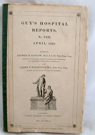 Image for Guy's Hospital Reports No VIII April 1839