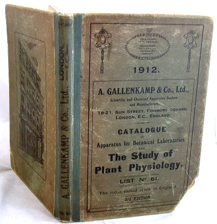 Image for Catalogue of Apparatus for Botanical Laboratories and the Study of Plant Physiology  1912