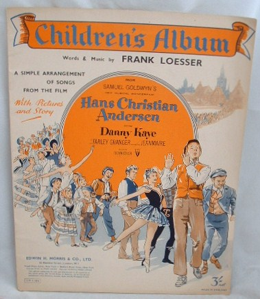 Image for Children's Album Words and Music from the Film Hans Christian Andersen