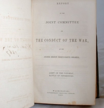 Image for Report of the Joint Committee on the Conduct of the War Volume 1