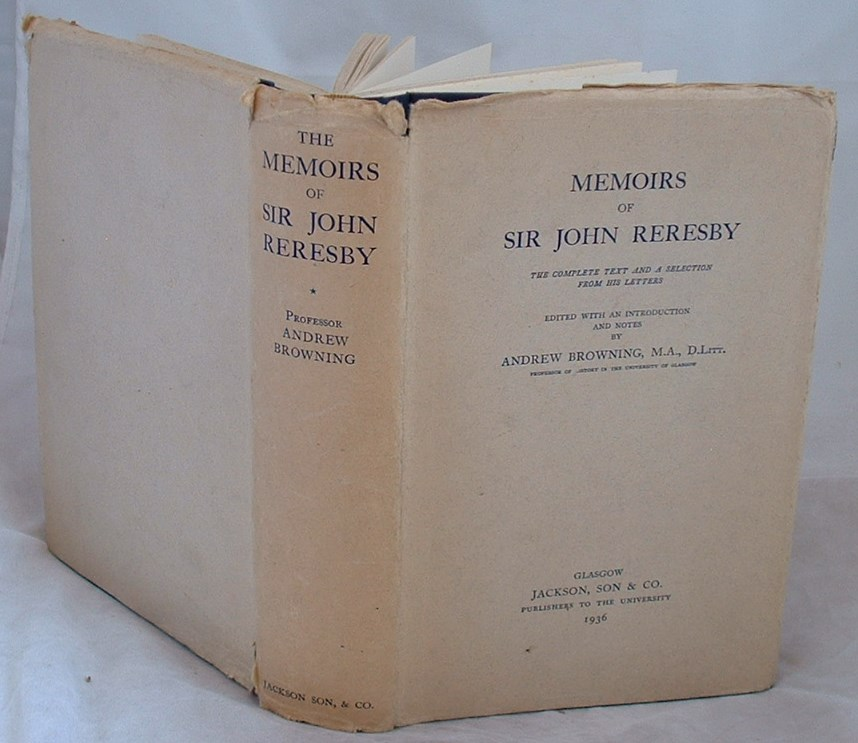 Image for Memoirs of Sir John Reresby