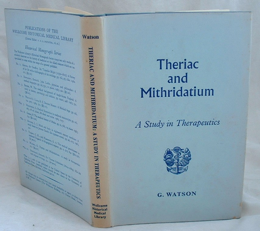 Image for Theriac and Mithridatium a Study in Therapeutics