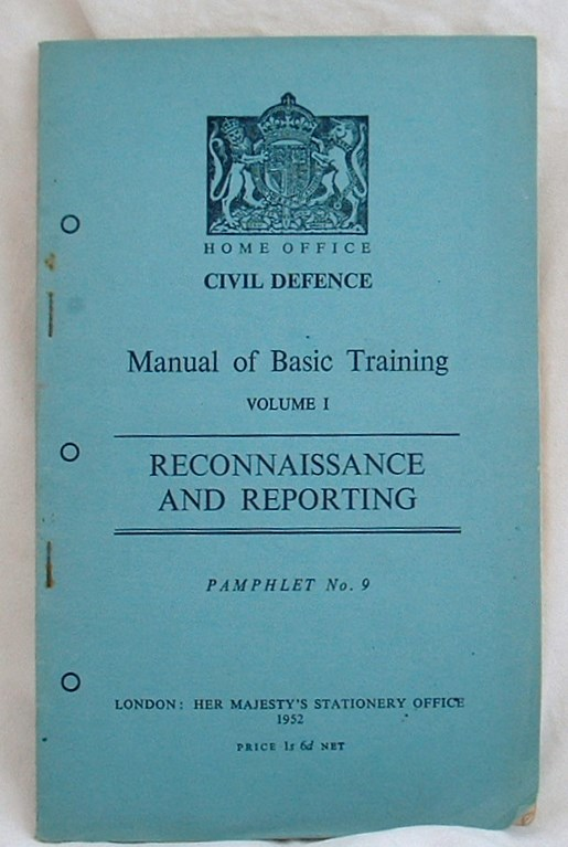 Image for Manual of Basic Training Volume1 Reconnaissance and Reporting
