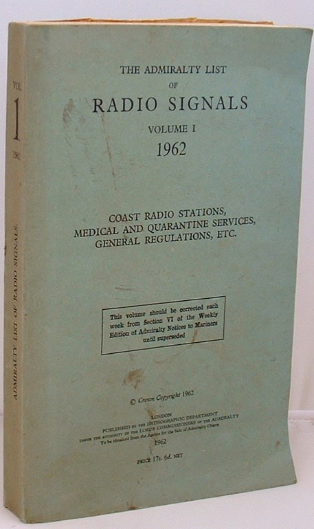 Image for The Admiralty List of Radio Signals Volume 1 1962