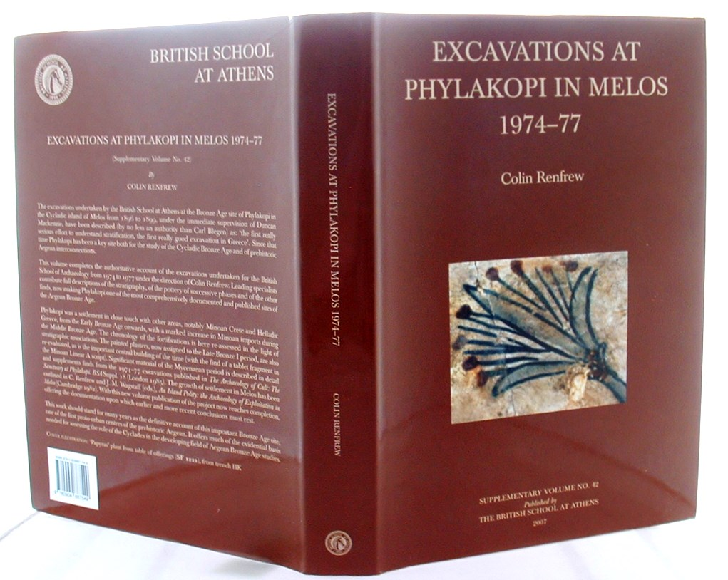 Image for Excavations at Phylakopi in Melos 1974-77 (British School at Athens Supplementary)