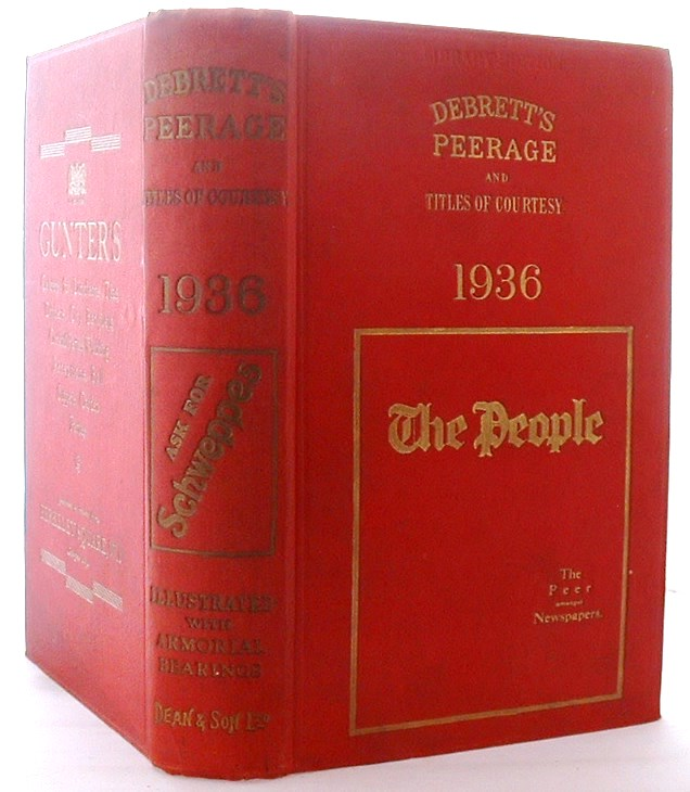 Image for Debrett's Peerage and Titles of Courtesy  1936