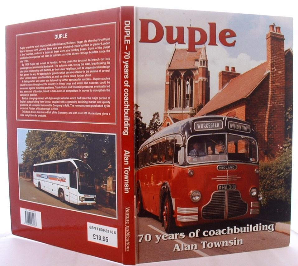 Image for Duple: 70 Years of Coachbuilding (British Bus Heritage)