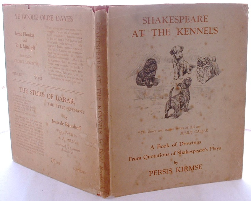 Image for Shakespeare at the kennels: a book of drawings from quotations of Shakespeare's plays,
