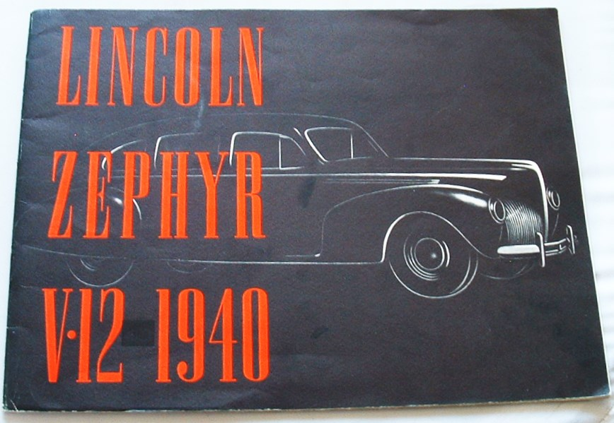 Image for Lincoln Zephyr V 12 1940  Brochure